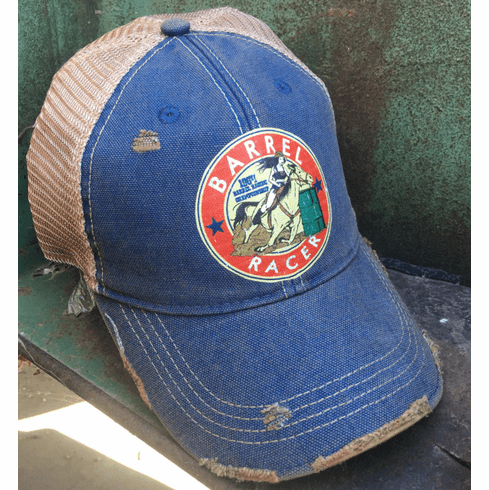 Barrel Racer Cap Vintage Blue