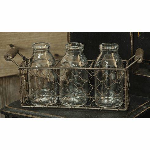 Basket and Bottles - 4 pc. set