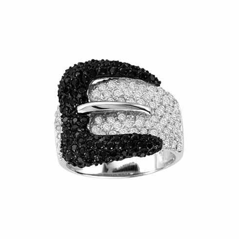 Belt Ring with Black Buckle
