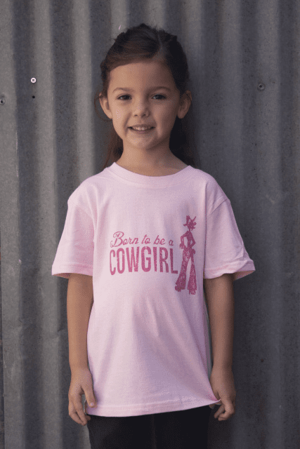 Born to be a Cowgirl Pink YOUTH