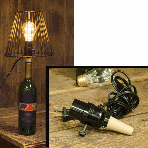 Bottle Cork Lamp Adapter