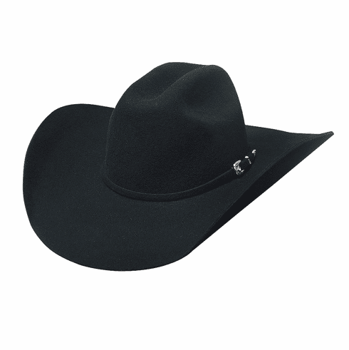 Broken Horn 4X Bullhide Hat Black
