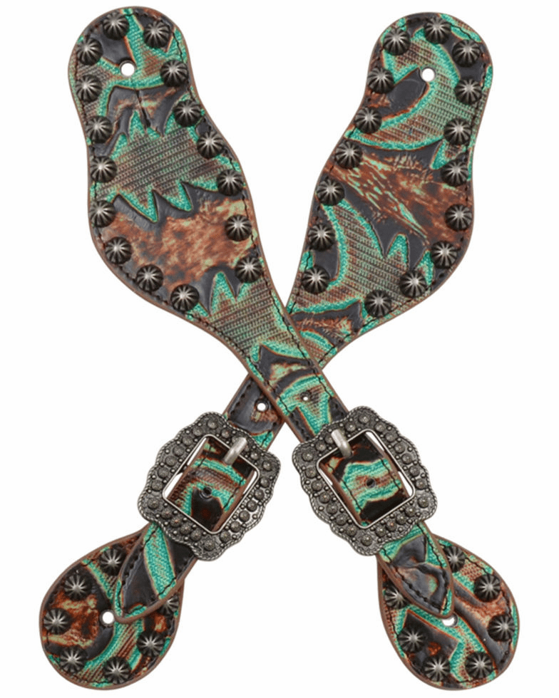 Brown and Turquoise Small Spur Straps