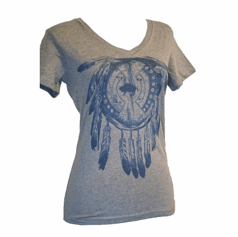 Buffalo Dreams Ladies V-Neck Tee Small-4XL