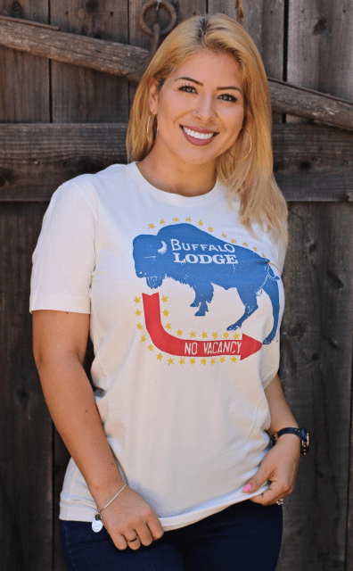 Buffalo Lodge Tee (two-sided tee) XS-4X