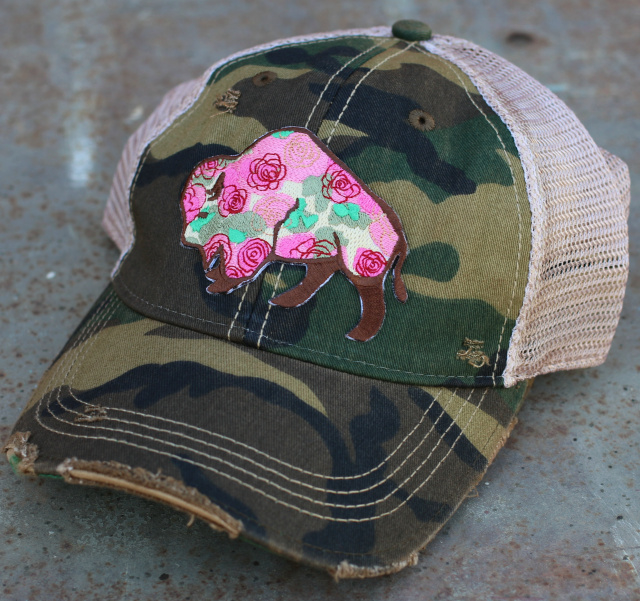 Buffalo Rose Cap Camo