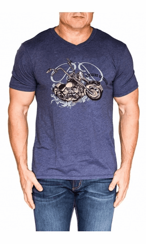Bullet Blues Sunshine On Chrome Designer T-Shirt Made in USA