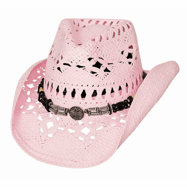 Bullhide All Summer Long - Straw Cowboy Hat Pink