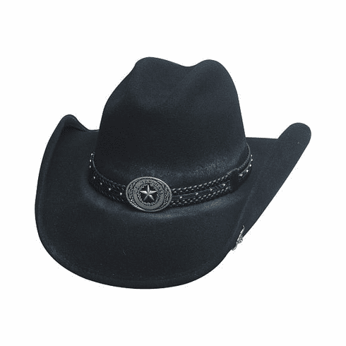BULLHIDE HATS COWBOY COLLECTION STRAY BULLET WOOL FELT WESTERN HAT
