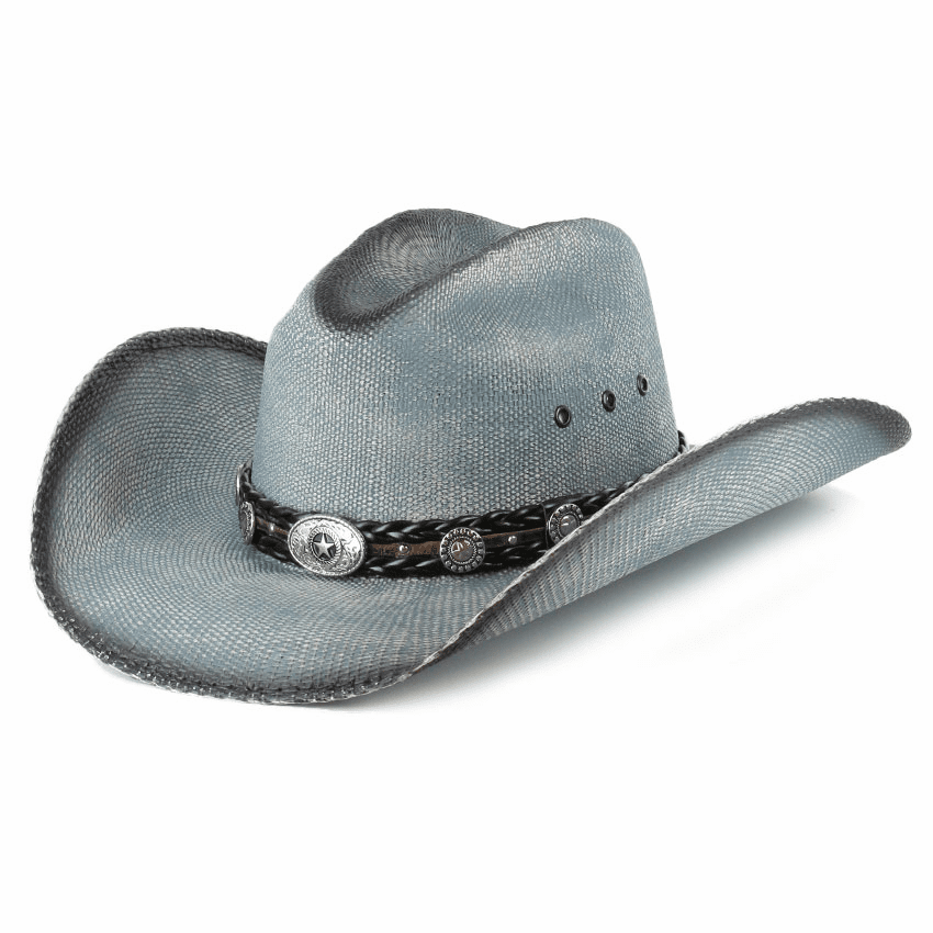 Bullhide Into You Straw Hat Blue
