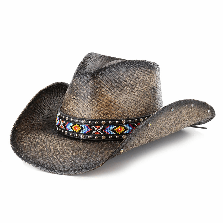 Bullhide Love Myself Straw Hat Black/Natural