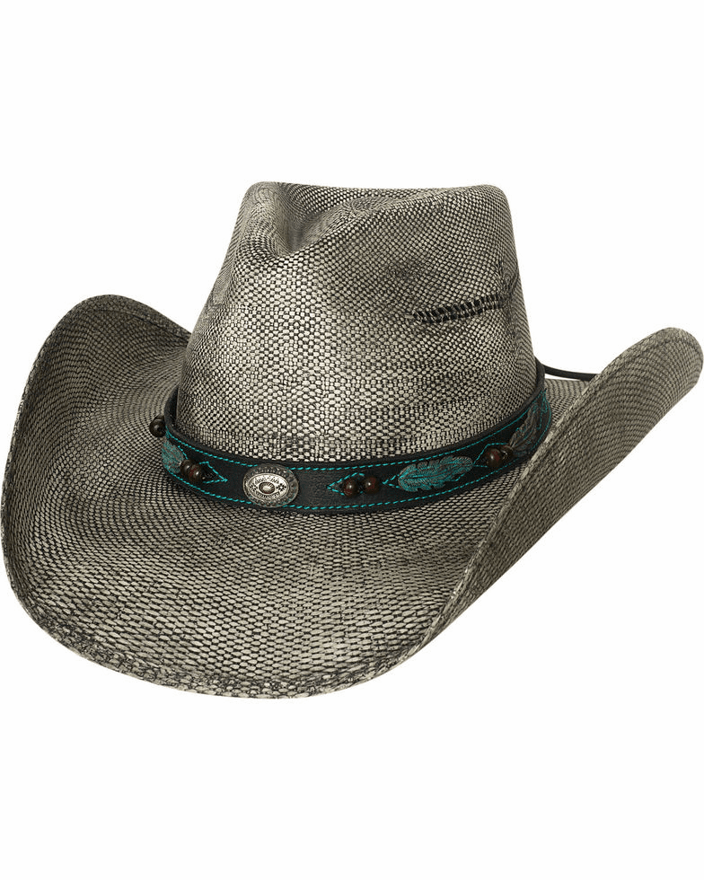 Bullhide Rampage Feather Band Straw Hat
