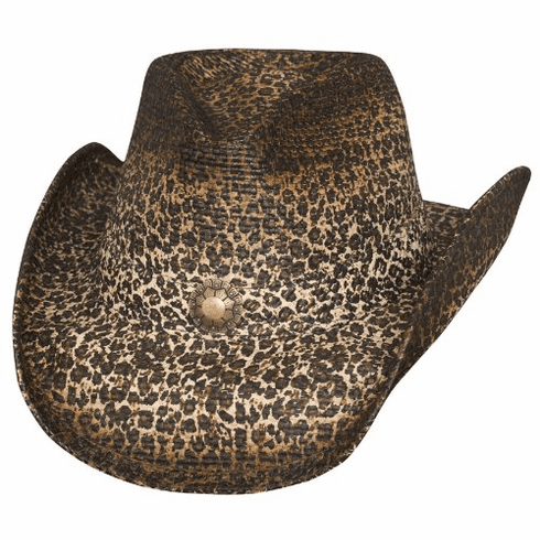 Bullhide Wild and Free Straw Leopard Print Western Hat