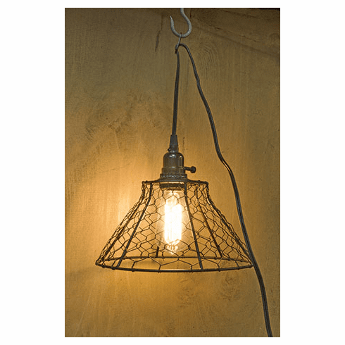 Chicken Wire Lamp
