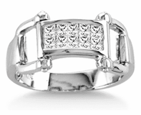 Clear Crystal Bit Ring