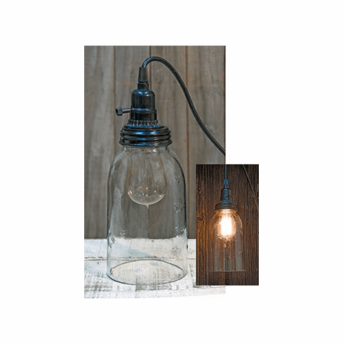 Clear Mason Jar Lamp Large