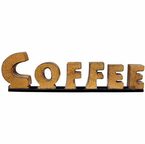 Coffee Cut-Out Letter Plaque