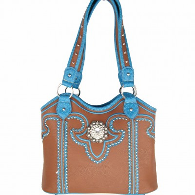 Concealed Carry Western Concho Shoulder Bag
