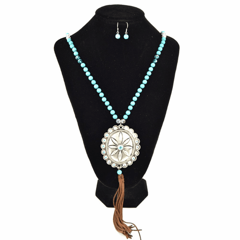 Concho Necklace Earring Set