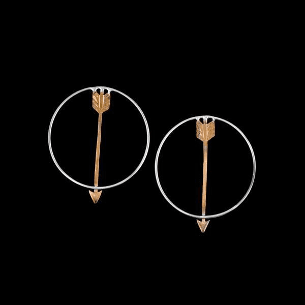 COPPER ARROW POST EARRINGS