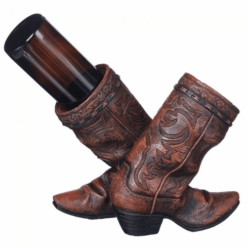 Cowboy Boot Wine Bottle Holder