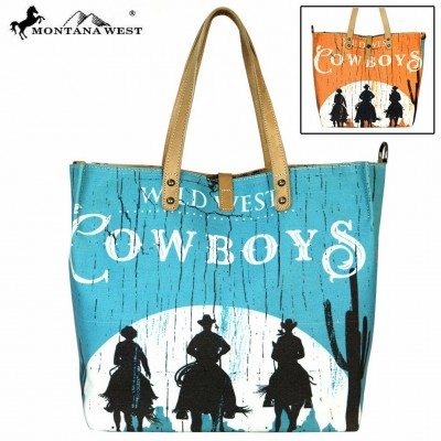 Cowboys Collection Dual Sided Print Tote