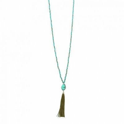 Cowgirl Western Nugget Necklace with Tassels
