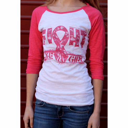 Cowgirls United by Pink-Fight Camo Ribbon by Original Cowgirl Clothing Company