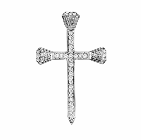 Crystal Nail Cross Necklace