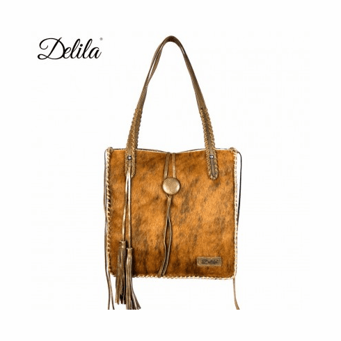 Delila 100% Genuine Leather Hair-On Hide Brown