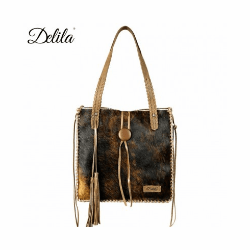 Delila 100% Genuine Leather Hair-On Hide Coffee