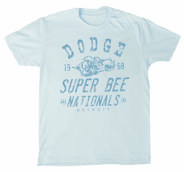 Dodge Super Bee Nationals Premium Men's Tee  Light Blue