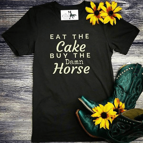 Eat The Cake Graphic Tee S -2X