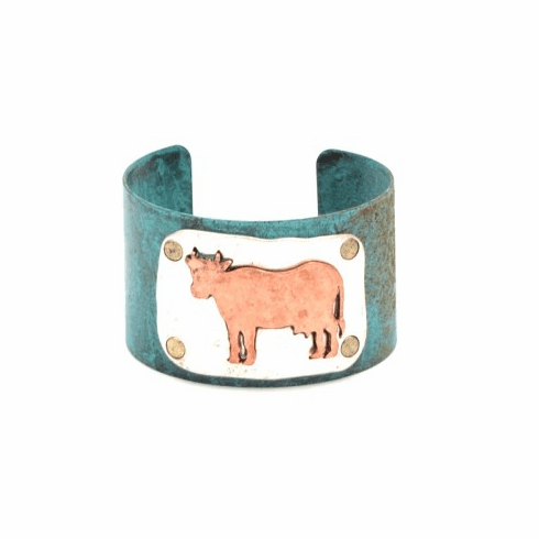Farm Animal Cuff Bangle - Cow