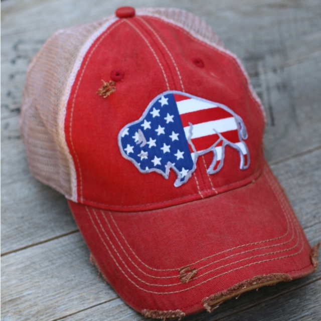 Free to Roam Distressed Cap Red Wash