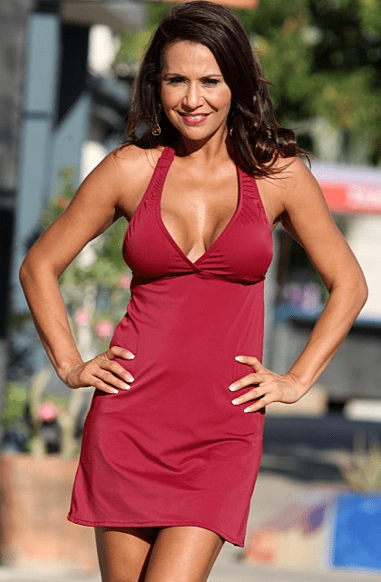French Riviera Swim Dress Maroon (Reg/Plus Size)