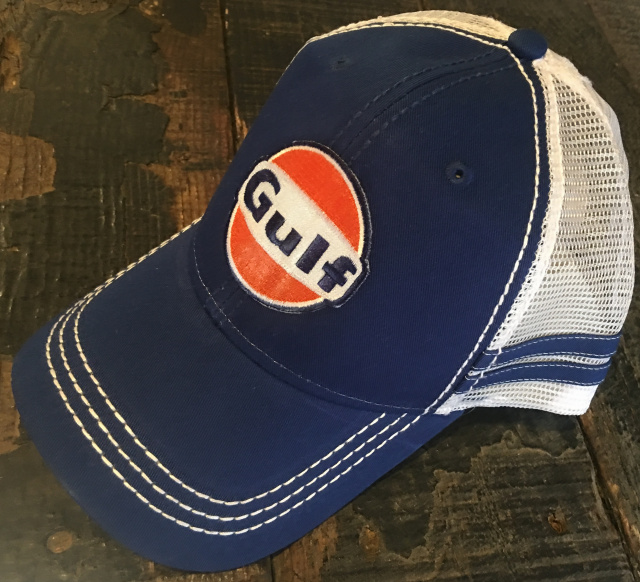 Gulf Stripe Trucker Cap Royal Blue