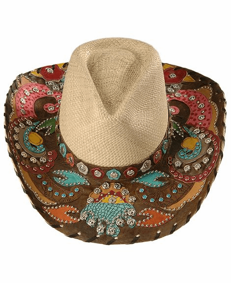 Gypsy Queen Panama Straw Cowboy Hat