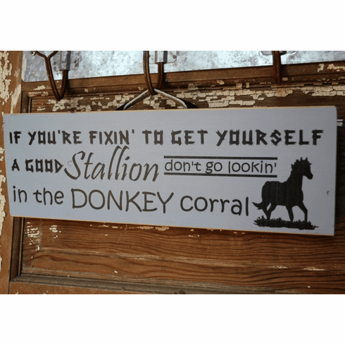 If Your Fixin to Get Yourself A Stallion....Sign