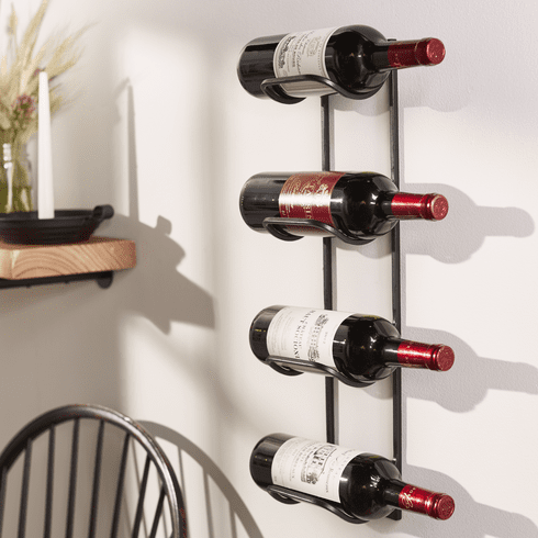 Iron Wall Wine Bottle Holder