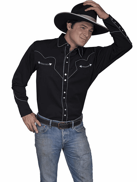 Johnny Black Long Sleeve Western Shirt