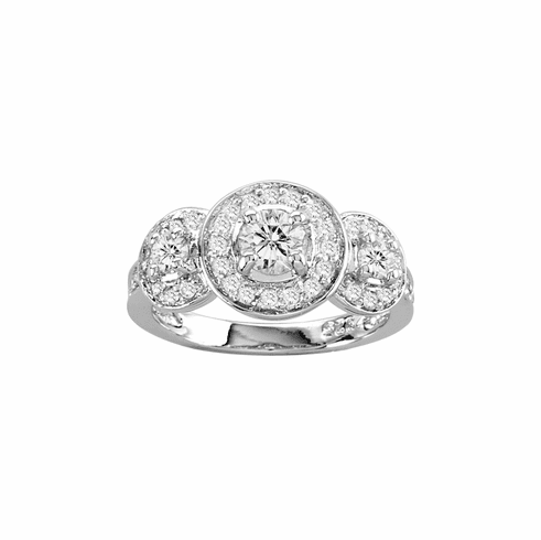 Kelly Herd Clear Round Three Stone Ring
