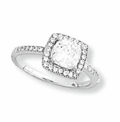 Kelly Herd Clear Square Ring