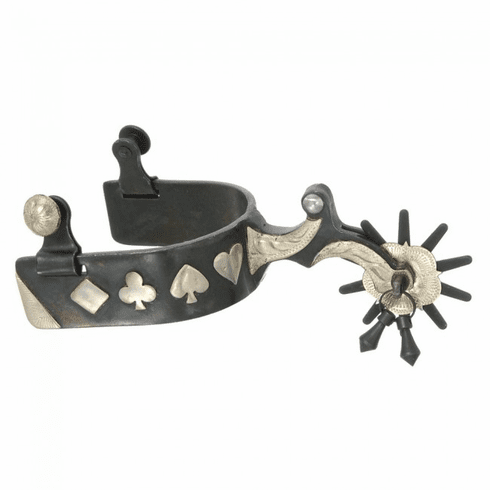 Kelly Silver Star Gambler Show Spurs - Black Steel