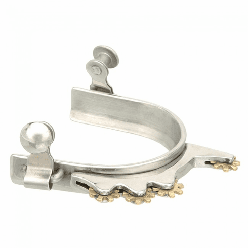 Kelly Silver Star Humane Rowel Spur - Stainless Steel - Ladies