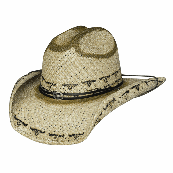 Kicking up Dust - Morocca Straw Cowboy Hat
