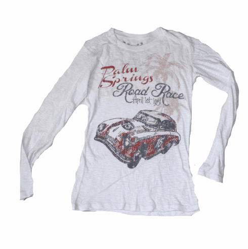 Ladies Long Sleeve Palm Springs Burnout Tee