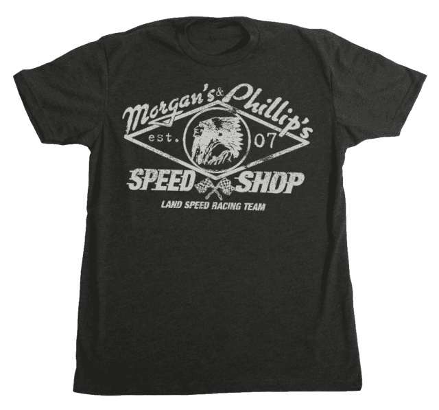Land Speed Racing Team Tee  Black