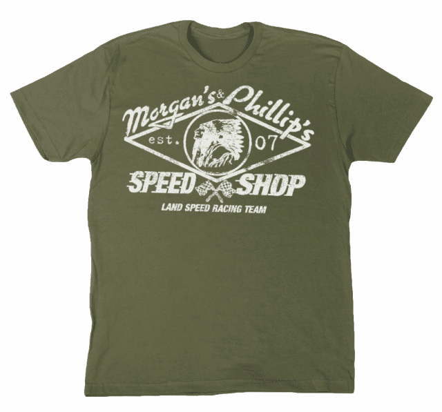 Land Speed Racing Team Tee  Olive