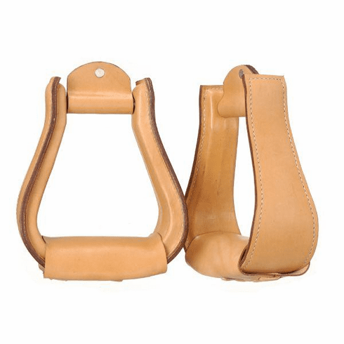Leather Covered Stirrups - 57-98300-31-0